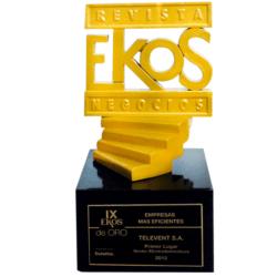 2012 EKOS de ORO para TVentas como la mejor empresa de electrodomésticos