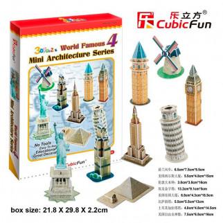 ROMPECABEZAS 3D MINI ARCHITECTURE SERIES 4