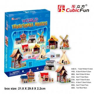 ROMPECABEZAS 3D WORLD TRADITIONAL HOUSE