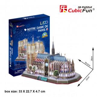 ROMPECABEZAS 3D NOTRE DAME DE PARIS LED