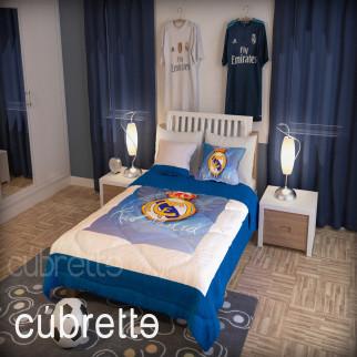 COBERTOR 1 1/2 PLAZAS CÚBRETTE KID REAL MADRID