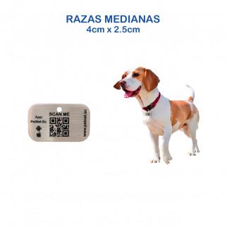 ID INTELIGENTE RECTANGULAR MASCOTAS RAZAS MEDIDANAS