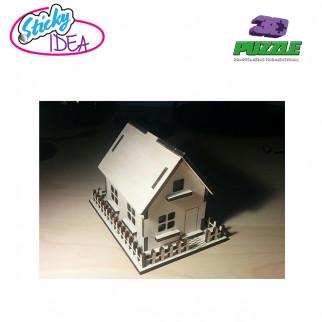 ROMPECABEZAS 3D PUZZLE STICKY IDEA CASA TIPO 1