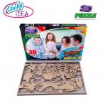 ROMPECABEZAS 3D PUZZLE STICKY IDEA ESQUELETO DE GORILA