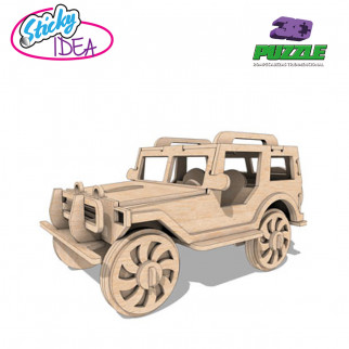 ROMPECABEZAS 3D PUZZLE STICKY IDEA JEEP