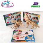 ROMPECABEZAS 3D PUZZLE STICKY IDEA LOBO