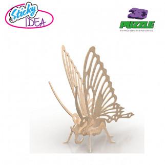 ROMPECABEZAS 3D PUZZLE STICKY IDEA MARIPOSA