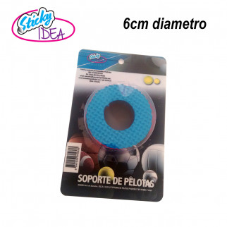 SOPORTE DE PELOTAS Y BALONES BICOLOR 6 CM STICKY IDEA