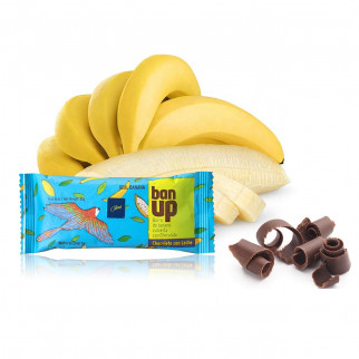 BARRA DE BANANO CON CHOCOLATE 32 G CAONI BAN UP