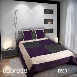 COBERTOR 1.5 PLAZAS CÚBRETTE DECO1