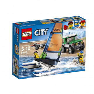 FIGURITAS ARMABLES LEGO CITY 4X4 WITH CATAMARAN