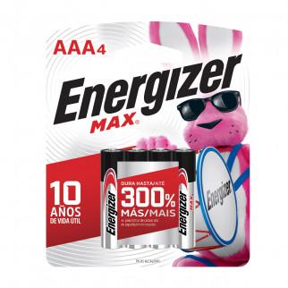 PILAS AAA x 4 ENERGIZER MAX