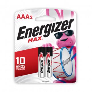 PILAS AAA x 2 ENERGIZER MAX