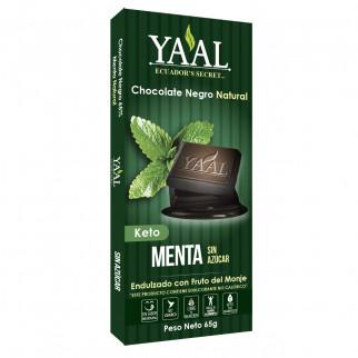 CHOCOLATE NEGRO C/MENTA YAAL 65 G YAAL