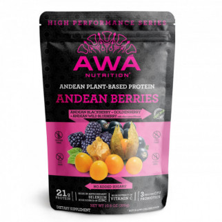 PROTEÍNA HIGH PERFORMANCE 300 G AWÁ NUTRITION ANDEAN BERRIES