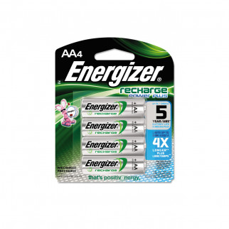 PILAS RECARGABLES AA X 4 ENERGIZER