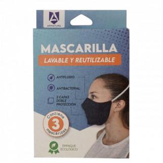 MASCARILLAS LAVABLES ARMATURA X 3