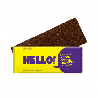 CHOCOLATE CON LECHE Y CAFÉ 100 G HELLOCHOC
