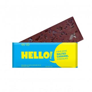 CHOCOLATE CON CARAMELO Y SAL HELLOCHOC 100 G
