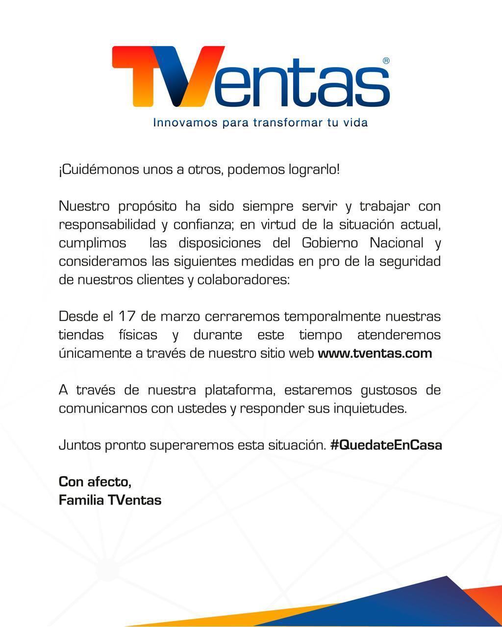 Carta Oficial a Clientes TVentas